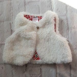 Gymboree Faux Fur Vest Jacket